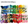 300pcs Colour Cross Stitch Manual Sewing Line Polyester Cotton Embroidery Thread