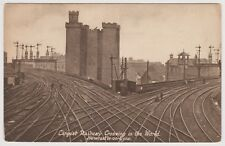 Vintage Postcard Largest Railway Crossing in the World Newcastle-On-Tyne Posted