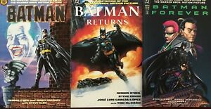 BATMAN x 3 DC COMICS MOVIE ADAPTATION LOT Original Batman Forever, Returns VF