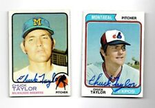 Chuck Taylor signed 1974 Topps #412 Expos Brewrers Mets Cardinals