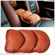 Bronw PU Leather Car SUV Center Armrest Topping Mat Liner Pad Cushion For Acura