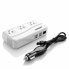 Bestek 200W/500 Watts Dc to Ac Car Power Inverter Charger 4 Usb Port & 3 Outlets