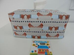 Tissue Box Cover Dachsunds in Sweaters with Circle Opening Great Gift!
