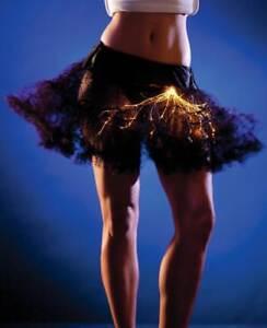 NEW WOMENS LIGHT UP BLACK TUTU Party Supplies