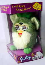 RARE 1999 1ST EDITION ELECTRONIC GREEN FURBY BROWN EYES TIGER UNUSED WITH TAGS !
