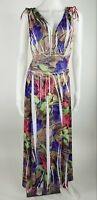 Just Love Maxi Dress Multi-Color Sleeveless Empire Waist Womens Size Small