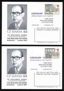 1987 U.K.CZESLAW SLANIA THE MAN AND HIS WORK, LONDON, complet of 5 card. C.S.65.