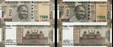 INDIA 500 Rs Urjit Patel 2016 Error Set L Inset Paper Money Bank Note UNC Rare