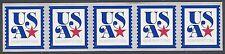 #5172 5c  USA Patriotic Nonprofit Coil Strip of 5 2017 Mint NH