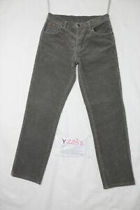 Wrangler Velluto Utilisé (Cod.Y2258) Taille Manquant Jeans en Velours Brun Droit