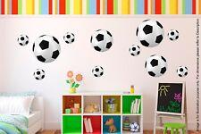 17 Pegatinas de pelotas de fútbol Sport Niños Calcomanías para Decoración de Pared Habitación Infantil