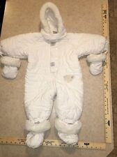 White Snowsuit Size 9 Months