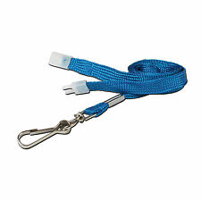 100 Soft Neck Strap Lanyards for ID Cards - Blue