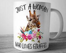 Funny Watercolor Floral Giraffe Coffee Mug 11 oz Giraffe Lover Gift Animal Mug