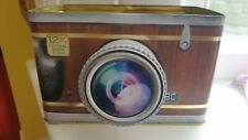 CANE & CO BISCUIT TIN CAMERA SHAPE