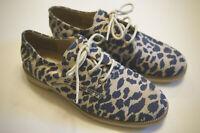 Gram Scandinavia 380g beige animal print safari canvas shoes sneakers EU 40