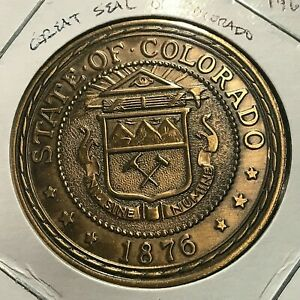 1969 STATE SEAL OF COLORADO  CAPITOL MEDALS TOKEN