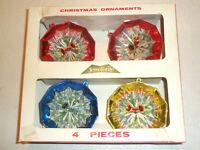 Vintage Lot 4 XMAS Ornaments Decagon Diorama