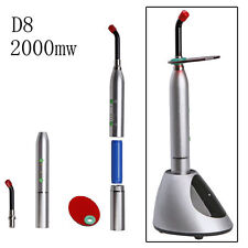 D8 Lampada fotopolimerizzante Dentale Cordless LED Curing Light lampada 2000mw