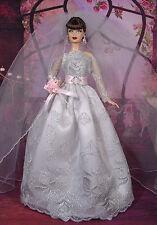 BARBIE DOLL ROBE DE MARIÉE WEDDING GOWN # 03144