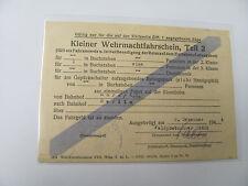 Kleiner Wehrmachtfahrschein,Teil 2, Horn ND - Berlin,1944, FP Nr.08696