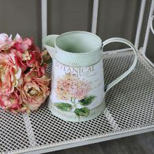 Caraffa in metallo ornamentale Vaso Fiori Shabby Chic Francese Vintage Country Casa Regalo