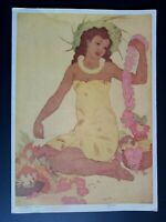 1955 Royal Hawaiian Hotel Menu, Cover Lei Maker by John Kelly, Waikiki, Hawaii
