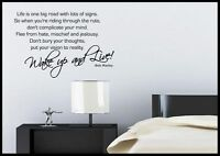 Bob Marley Quote Wall Sticker Bedroom Room Decal Mural Transfer Art Stencil