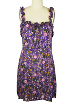 RESA Mia Mini Dress in Secret Garden Purple sz L NWT $168