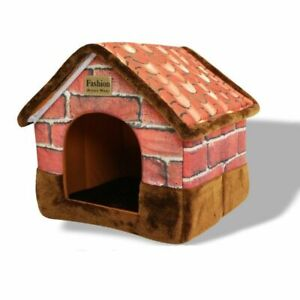 Pet Cat House Foldable Bed With Mat Soft Kitten Puppy Sleeping Bed Cozy Cave Dog