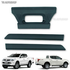 Matte Black Cover Fit Mitsubishi L200 Triton Truck 2015 16 Tailgate Tail Gate