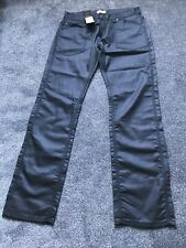 BNWT FIRETRAP COATED LEATHER LOOK JEANS TROUSERS 34 £79.99