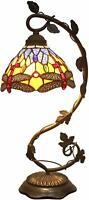 """Nice Stained Glass Lamp Handcrafted 20.5"""" tall Elegant Victorian Vintage Style"""
