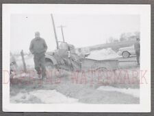 Vintage Photo Unusual Truck Wreck 1950s Chevy GMC Pickup 759483