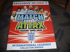 ALBUM NEUF TRADING CARD GAME, CARTES FOOT MATCH ATTAX, FOOTBALL, TESCO LEGENDS