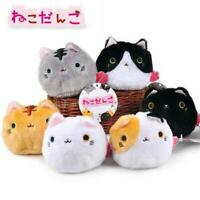 6 PCS Japaness Neko Atsume Cute Cat Plush Dango Mochi Stuffed Doll Toy Kids New