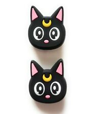 2 pcs Cute Black Moon Luna Cat Shoe Charms for Crocs Clog Shoes Bracelet Gift