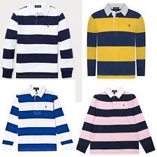 Ralph Lauren Kids Boys Striped Long sleeves Polo Shirt Rugby T Shirt Top 2-18