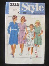Style Pattern - 3322 Girls' Dress Flared Zip Front School Uniform Size 14 Uncut