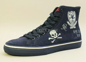 POLO Ralph Lauren MEN'S Sneaker Shoe Suede Casual NAVY BLUE Size 9.5D