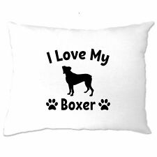 Dog Owner Pillow Case I Love My Boxer Dog Owner Pet Lover Cute Breed