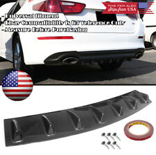 "33"" x 6"" Carbon Rear Bumper Valance Diffuser 7 Shark Fins For Toyota Scion Lexus"