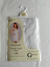 NEW LADIES BLACK OR WHITE POLYESTER COTTON THERMAL LONG LENGTH VEST UNDERWEAR