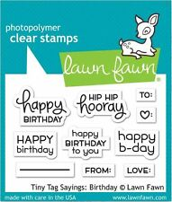Lawn Fawn Photopolymer Clear Stamp Set ~ TINY TAGS SAYINGS: BIRTHDAY  ~LF1421