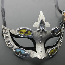 Black Classic Prince/Princess Venetian Masquerade Mask 2Q2A for Party & Display