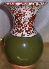 Collectible Clay Pottery Decorative Oive Green Enamel Vase Handmade RS 09