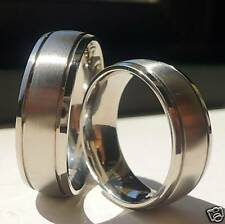 TITANIUM HIS AND HER WEDDING BAND RING SET 7MM/ size 7-14