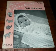 Beehive Hand Knits for Babies 120-A  - 1946  Good Older Pattern Book  60 Pages