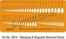 DESIGNERS MARQUISE & BAGUETTE STONE GUIDE - JEWELLERY MAKING OR LAPIDARY