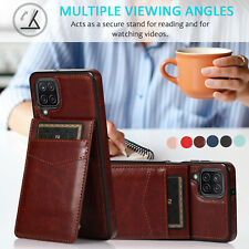 Leather Case Cover with multi Card Holder For Samsung A52 A72 A32 A42 A12 A21s